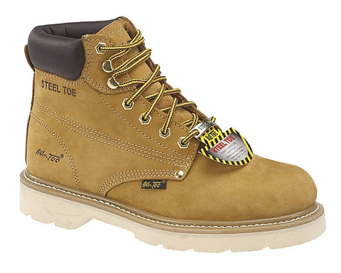 AdTec Mens Tan 6in Steel Toe Work Boot Nubuck