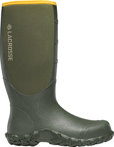 Lacrosse Alpha Lite Mens Green Rubber 16in Neoprene Hunting Boots
