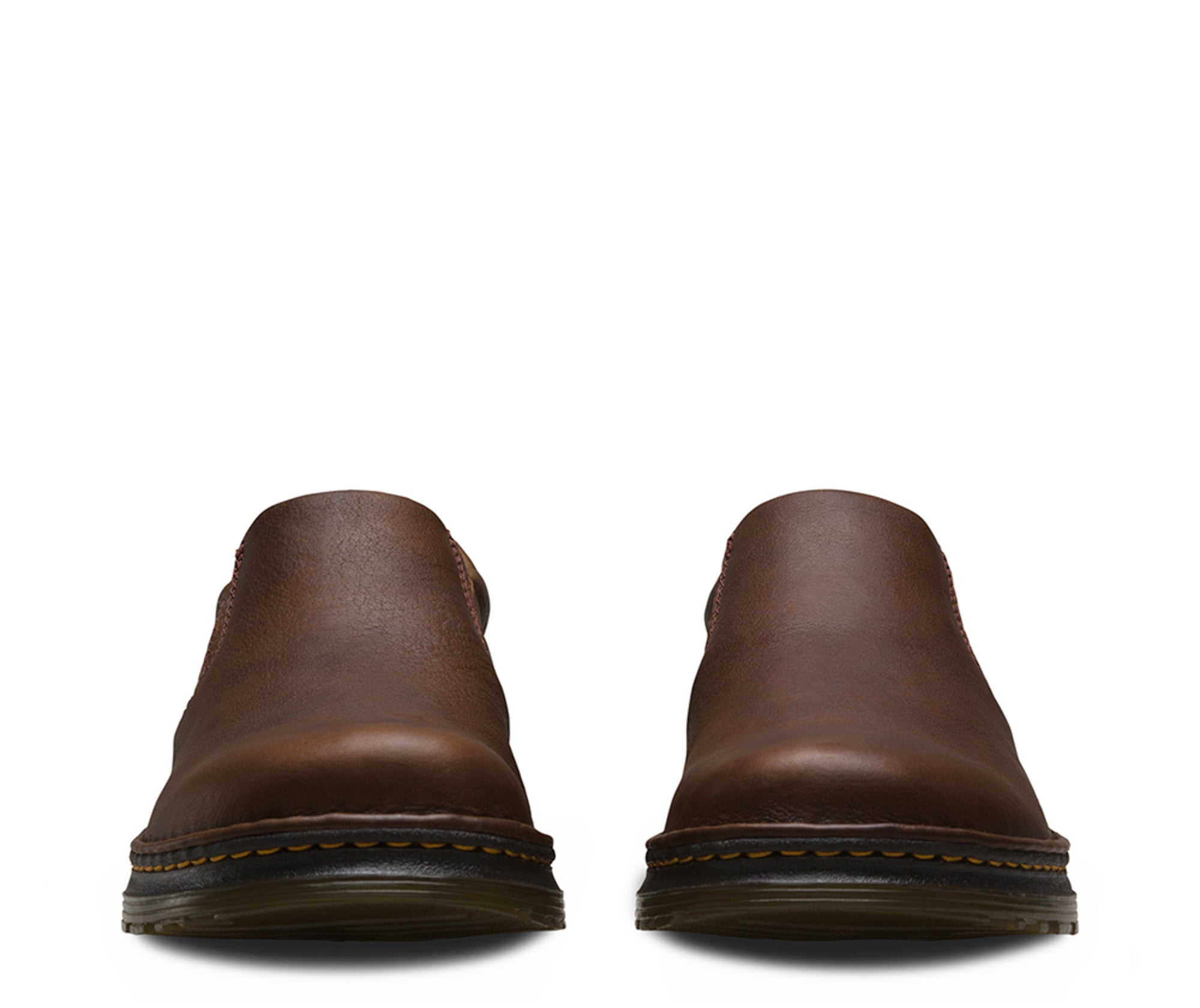 26646813a2d Dr Martens Dark Brown Unisex Boyle Grizzly Leather Work Shoes ...