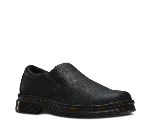 Dr Martens Black Unisex Boyle Grizzly Leather Work Shoes