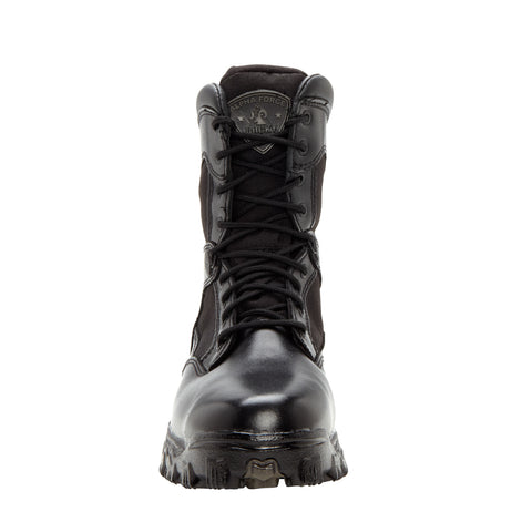 Rocky Mens Black Leather 1000 Denier AlphaForce Waterproof Duty Boots