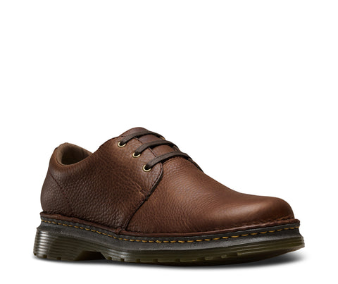 Dr Martens Dark Brown Unisex Hazeldon Grizzly Leather Work Shoes