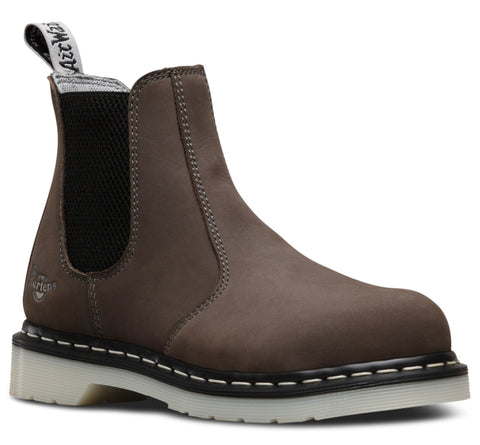 Dr Martens Grey Womens Arbor St ST Wind River Leather Work Boots