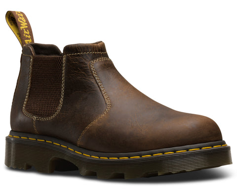 Dr Martens Tan Unisex Penly Greenland Leather Ankle Boots