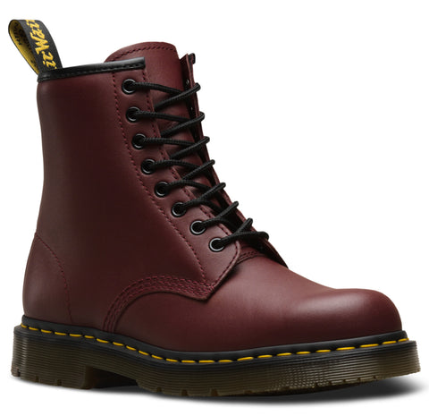 Dr Martens Cherry Red Unisex 1460 Sr Full-Grain Leather Work Boots