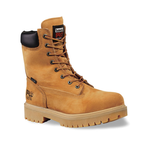 Timberland Pro 8In Ins WP Direct Attach Mens Wheat Leather Work Boots