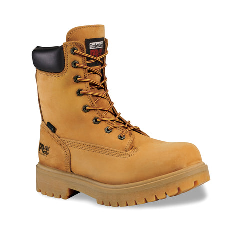 Timberland Pro 8in Ins WP Direct Attach Mens Wheat Leather Work Boots Soft