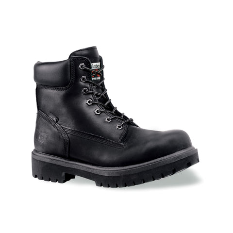 Timberland Pro 6In Ins WP Direct Attach Mens Black Leather Work Boots