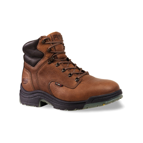 Timberland Pro 6In TiTAN Safety Toe Mens Coffee Leather Work Boots