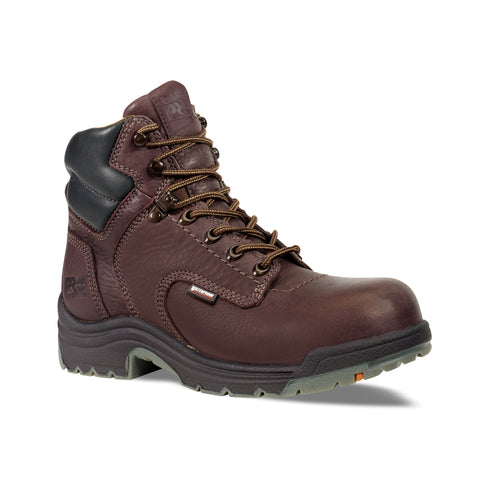 Timberland Pro 6In TiTAN WP Mens Dark Mocha Leather Work Boots Safety