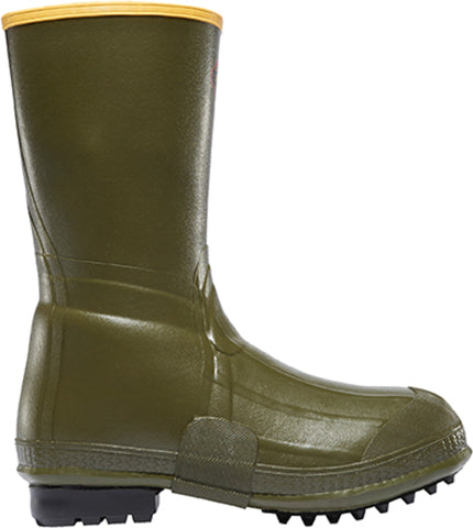 Lacrosse Burly Mens Green Rubber 12in Air-Grip Work Boots