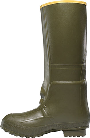 Lacrosse Insulated 2-Buckle Mens Green Rubber 18in Foam Work Boots