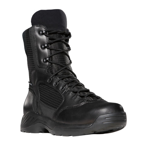 Danner Kinetic 8in GTX Mens Black Leather WP Uniform Boots 28010