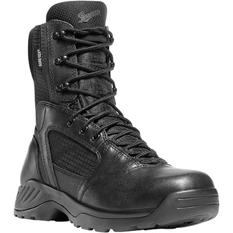 Danner Kinetic Side-Zip 8in GTX Mens Black Leather Uniform Boots 28012