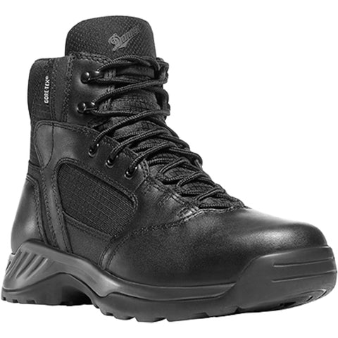Danner Kinetic Side-Zip 6in GTX Mens Black Leather Uniform Boots 28017
