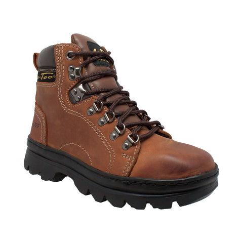 AdTec Womens Brown 6in Work Hiker Crazy Horse Leather Boots