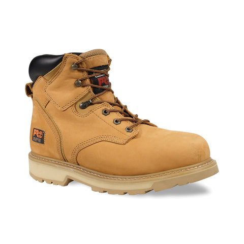 Timberland Pro 6In Pit Boss Soft Toe Mens Wheat Leather Work Boots