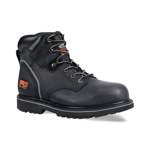 Timberland Pro 6In Pit Boss Mens Black Leather Work Boots Steel Toe