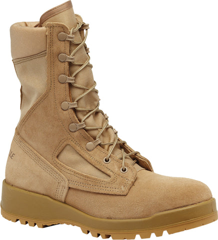 Belleville Hot Weather Steel Toe Flight Boots 340DESST Tan Leather