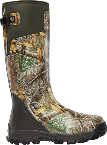 Lacrosse AlphaBurly Pro Mens Realtree Edge Rubber 18in 400G Hunting Boots