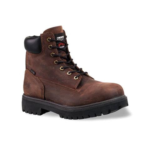 Timberland Pro 6In Ins WP Direct Attach Soft Mens Brown Leather Work Boots