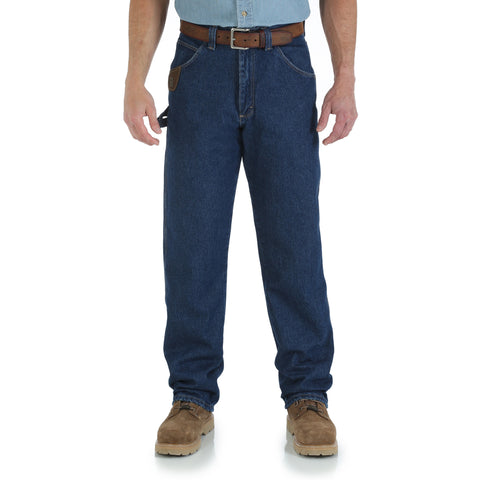 Wrangler Mens Antique Indigo 100% Cotton Workhorse Jeans
