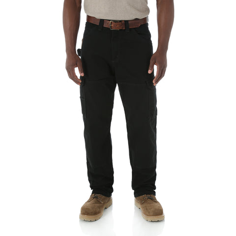 Wrangler Mens Black 100% Cotton Ranger Pant Jeans