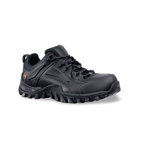 Timberland Pro Mudsill Low Mens Black Leather Work Shoes Steel Toe