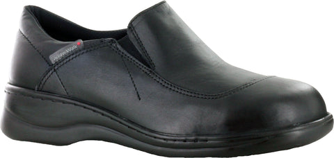 Mellow Walk Jamie Womens Black Leather Slip-On Shoes