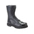 Rocky Womens Black Leather Side Zipper Jump Boots