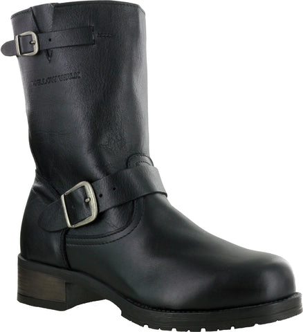 Mellow Walk Vanessa Womens Black Leather Engineer Work Boots