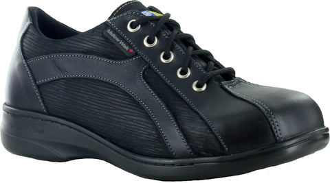 Mellow Walk Daisy Womens Black Zebra Suede Leather Oxford Shoes