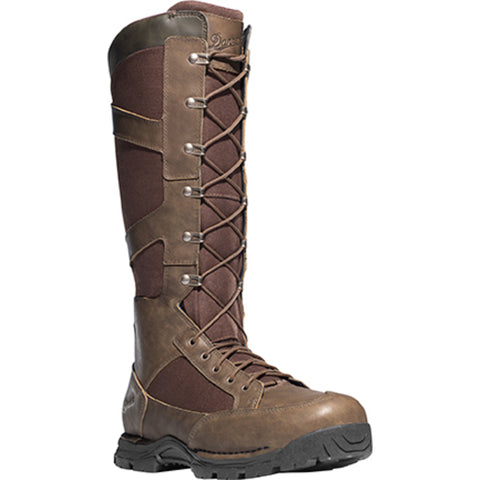 Danner Pronghorn Snake Zip 17in Mens Brown Leather Hunting Boots 45033
