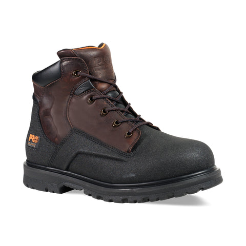 Timberland Pro 6In PowerWelt WP Mens Brown Leather Work Boots Ever-Guard