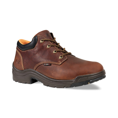 Timberland Pro TiTAN Oxford Mens Haystack Brown Leather Work Shoes