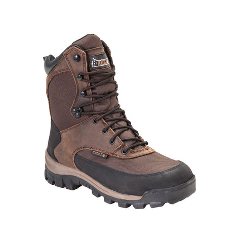 Rocky Mens Brown Leather Core Waterproof Insulated Hiking Boots