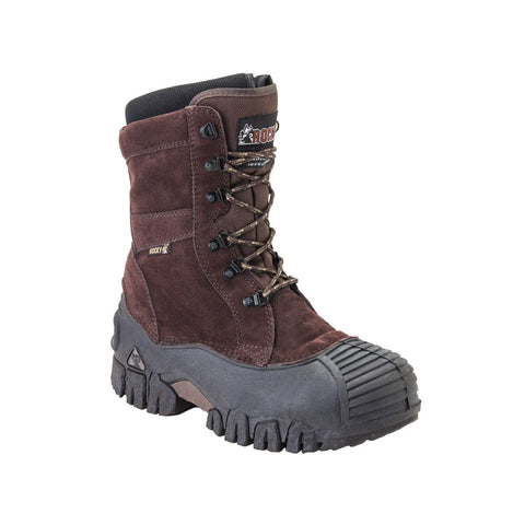 Rocky Mens Brown Leather Jasper Trac Insulated Waterproof Snow Boots
