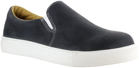 Mellow Walk Jessica Womens Black Leather Slip-On Shoes