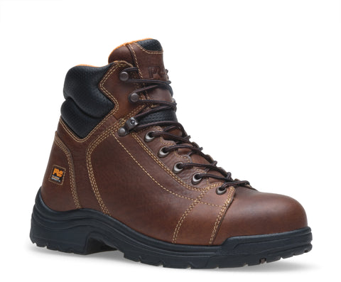 Timberland Pro 6In TiTAN Lace to Toe Mens Brown Leather Work Boots