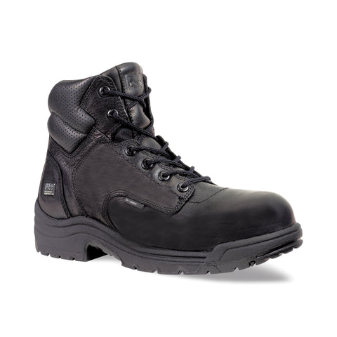 Timberland Pro 6In TiTAN Safety Toe Mens Black Leather Work Boots