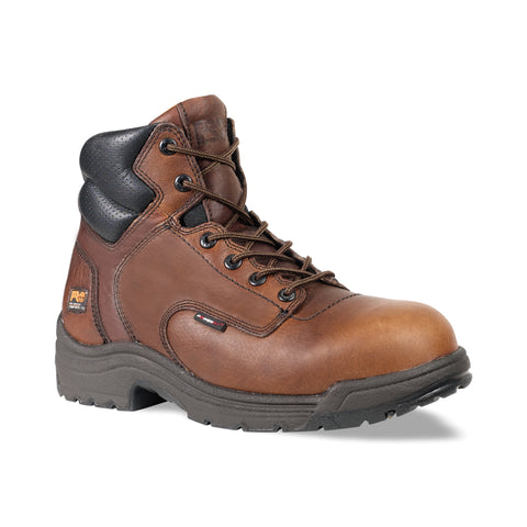 Timberland Pro 6In TiTAN Safety Toe Mens Camel Brown Leather Work Boots