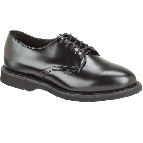 Thorogood Womens Classic Leather Oxford Black High Shine Uniform Shoes
