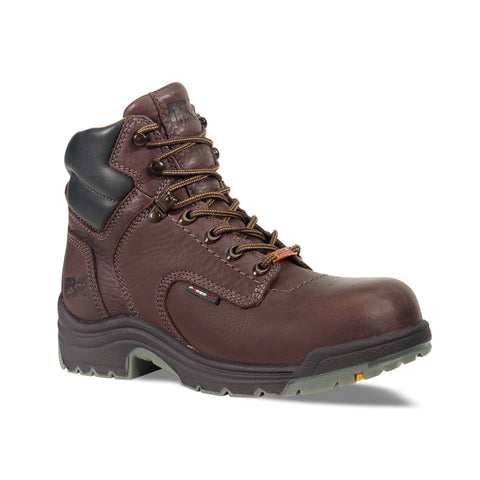 Timberland Pro 6In TiTAN Soft Toe WP Mens Dark Mocha Leather Work Boots