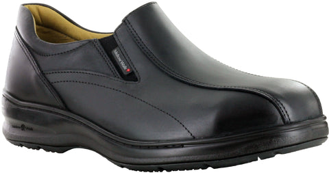 Mellow Walk Patrick2.0 Mens Black Leather Uptowner Slip-On Shoes