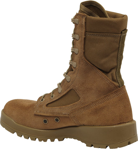 Belleville Hot Weather ST Combat Boots Unisex Mojave/Olive Leather/Nylon