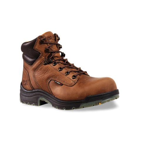 Timberland Pro 6In TiTAN Soft Toe Womens Coffee Leather Work Boots Ankle