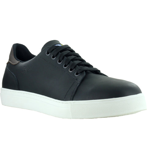 Mellow Walk Owen Mens Black Leather Sneaker Shoes
