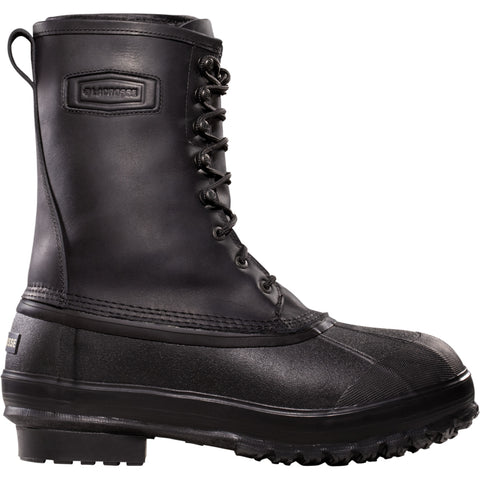 Lacrosse Iceman Mens Black Leather 10in Wool Snow Boots