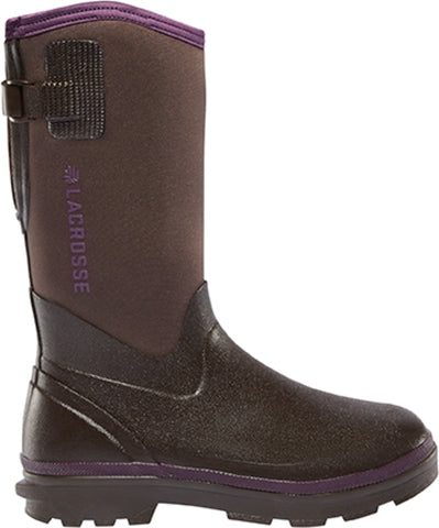 Lacrosse Alpha Range Womens Chocolate Neoprene 12in 5mm Work Boots