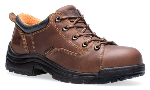 Timberland Pro TiTAN Oxford Womens Brown Leather Work Shoes Lace Up